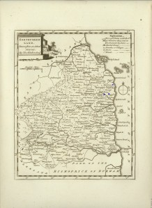 Northumberland (showing towns W and S lived in)