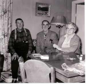 Richard, George and Jane in their latter years. 1960