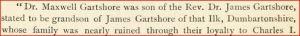 Gartshore and King Charles I