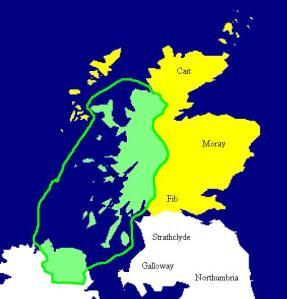 Kingdom of Dal Riata  580-600 AD