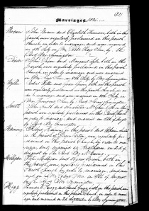 Marriage of John Smith and Annabella McGhee