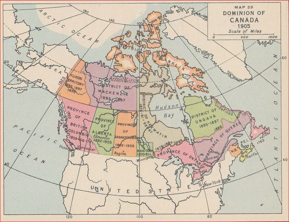 Map Of Canada 1905.Maps Canada Leaves In The Wind