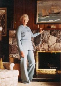 Marg Fireplace Portrait c1965