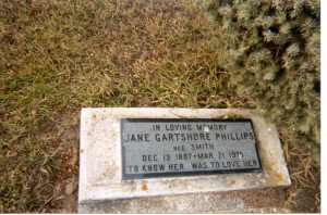 Headstone, Jane Phillips, Magnet, MB 2007