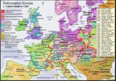 Reformation Europe c.1564