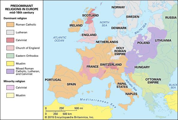 Religions Of Europe 16th Century