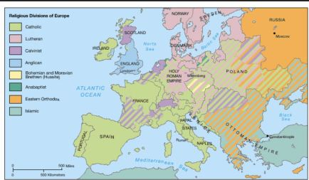Religious Divisions in Europe 1555