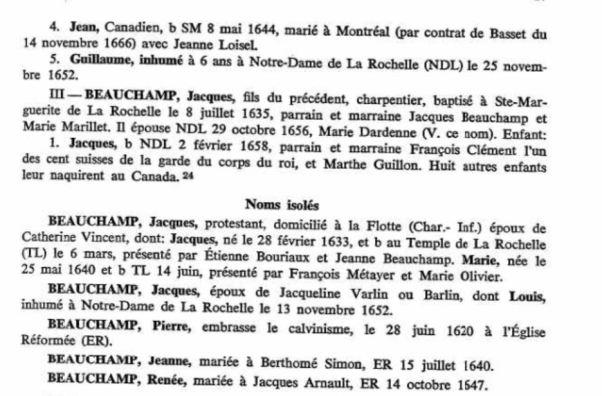Beauchamp Family-Emigration Rochelais Un Nouvelle France.JPG Noms Isoles