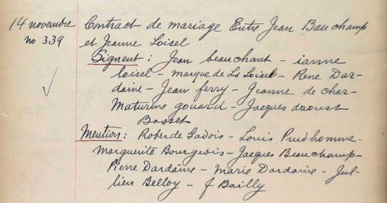 Mar. Contract J. Beauchamp