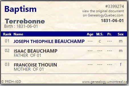 Theophile Beauchamp Baptism PRDH.JPG
