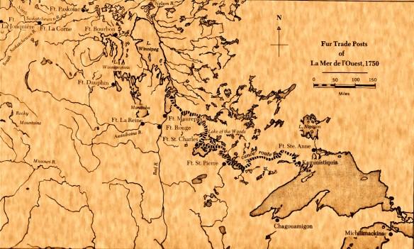 Fur Trade Posts of La Mer de l'Ouest, 1750